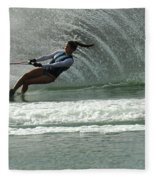 Water Skiing Magic Of Water 9 Fleece Blanket