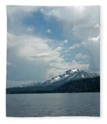 Water Snow Vapor Lake Tahoe Fleece Blanket