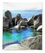 Water Stonehenge Lake Tahoe Fleece Blanket