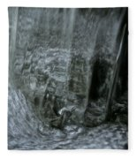 Water Wall And Whirling Bubbles Fleece Blanket