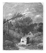 Water Well, C1880 Fleece Blanket