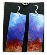 Watercolor Earrings Artists Favorite Fleece Blanket