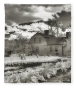 Watercolor In Black And White Fleece Blanket