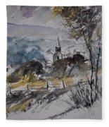 Watercolor Lesterny Fleece Blanket