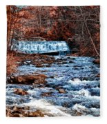 Waterfall Along A Mountain Stream Fleece Blanket
