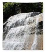 Waterfall At Treman State Park Ny Fleece Blanket