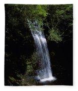 Waterfall In A Forest, Glencar Fleece Blanket