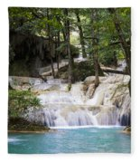 Waterfall In Deep Forest Fleece Blanket