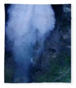 Waterfall In Spain  Near Granada Fleece Blanket
