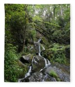 Waterfall In The Forest Fleece Blanket