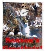 Waterfall Seasons Greeting Fleece Blanket