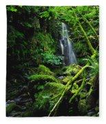 Waterfall, Sloughan Glen, Co Tyrone Fleece Blanket