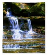 Waterfall Trio At Mcconnells Mill State Park Fleece Blanket