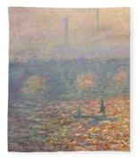 Waterloo Bridge Fleece Blanket