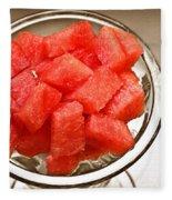 Watermelon Parfait 2 Fleece Blanket