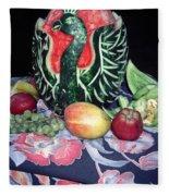 Watermelon Swan Fleece Blanket