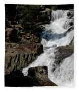 Waters Flow Glen Alpine Falls Fleece Blanket