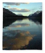 Waterton Lake Sunset Canada Fleece Blanket
