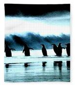 Wating For Take Off Fleece Blanket