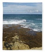 Waves Breaking On Shore 7930 Fleece Blanket