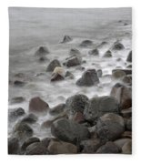 Waves Hitting The Shore Fleece Blanket