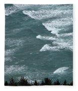 Waves In The Sky Fleece Blanket