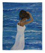 Waves Of Beauty Fleece Blanket