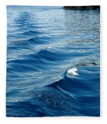 Waves On Tahoe Fleece Blanket