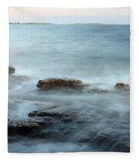 Waves On The Coast Fleece Blanket