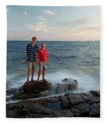 Waves Splash Children Fleece Blanket