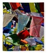 Waving Prayer Flags Fleece Blanket