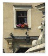 Wawel Flower Box And Achitecture Fleece Blanket