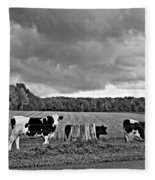 Weather Talk Monochrome Fleece Blanket