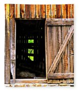 Weathered Barn Door Fleece Blanket