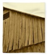 Weathered Barn II In Sepia Fleece Blanket