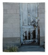 Weathered Door Virginia City Nevada Fleece Blanket