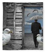 Weathering The Gulls Fleece Blanket