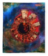 Wee Manhattan Planet - Artist Rendition Fleece Blanket