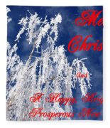 Weeping Willow Christmas Fleece Blanket