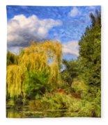 Weeping Willows Fleece Blanket