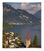 Weggis Switzerland Fleece Blanket