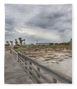 Welcome To Bald Head Island Fleece Blanket