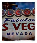 Welcome To Fabulous Las Vegas 2 Fleece Blanket