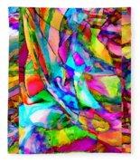Welcome To My World Triptych Horizontal Fleece Blanket