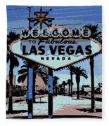 Welcome To Vegas  Fleece Blanket