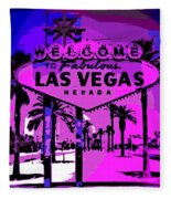 Welcome To Vegas No.2 Fleece Blanket