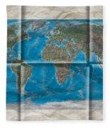 Well Worn World Fleece Blanket