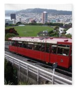 Tram Car Viewpoint - Wellington, New Zealand Fleece Blanket