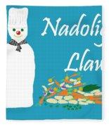 Welsh Snowman Chef Fleece Blanket