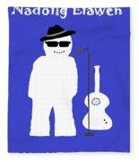 Welsh Snowman Musician Fleece Blanket